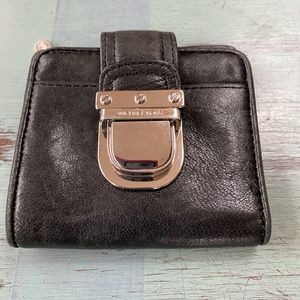 Michael Kors mini, black leather wallet
